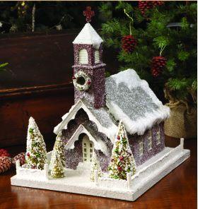 Mini Christmas Village Houses