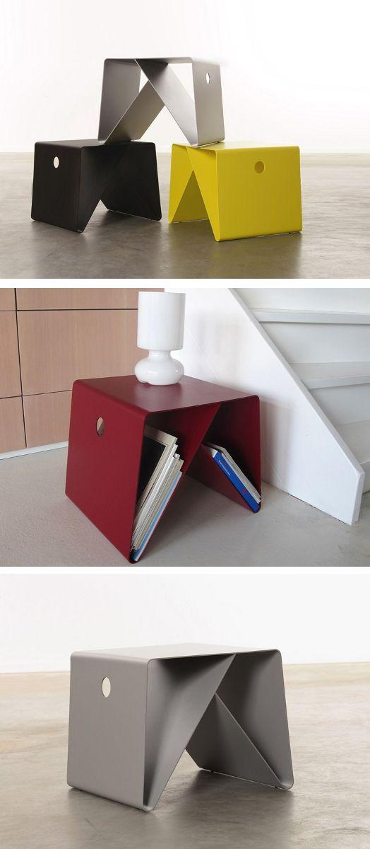 Square powder coated aluminium coffee table BT4 by Neil David design Neil David…