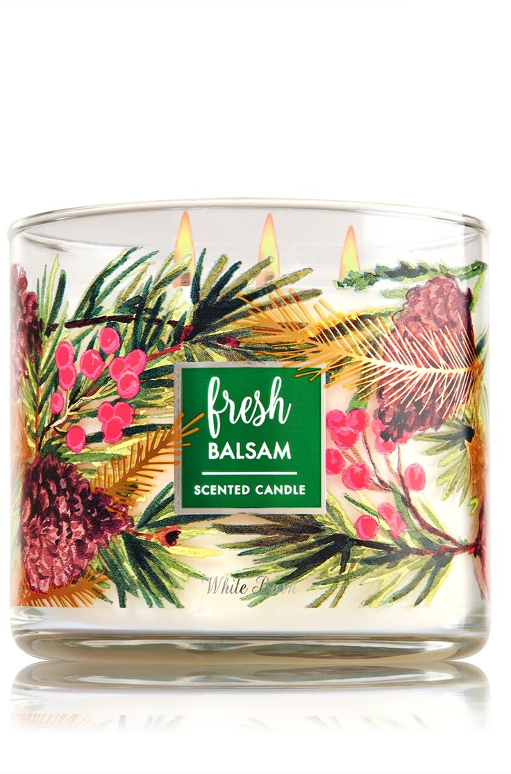 Just Because I want to come home to the smell of a Balsam Christmas Tree Fir EVERY night ... Fresh Balsam 3-Wick Candle - Home Fragrance 1037181 - Bath & Body Works
