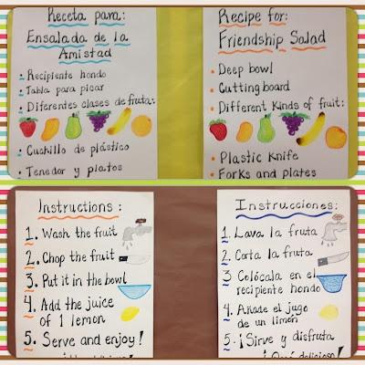 Cookin' Activity: Friendship Fruit Salad  Dual Language Summer School