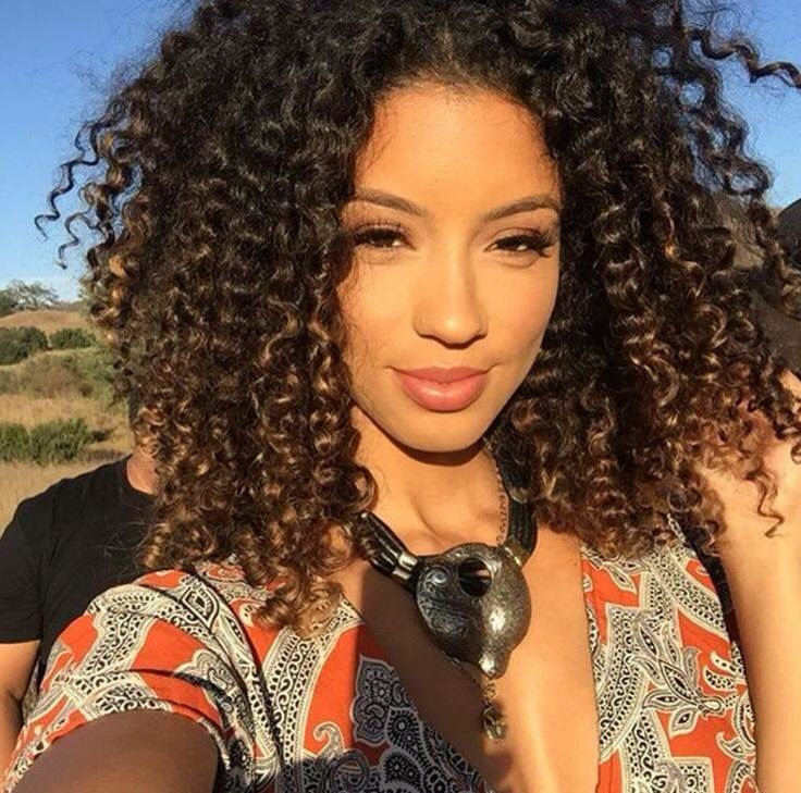 Highlights on naturally curly hair image collections hair pictures of black curly hair with blonde highlights the best amazing ombre highlights for natural curly pmusecretfo Choice Image