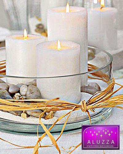 tri de velas grandes decorativas para centro de mesa aluzza  aluzza