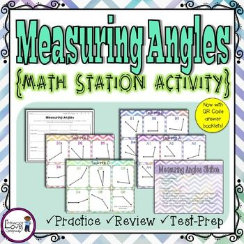 Measuring Angles Math StationEasy prep! All you need to add are protractors!  Use this station as a follow-up to your lessons on measuring angles, review of angles, or test prep!  While using this station, students will practice measuring angles and determining the type of angle.