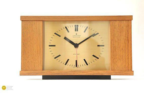 Https Www Etsy Com De Listing 596983067 Mid Century Junghans Desk Clock Modern Ref Shop Home Active 38 Desk Clock Modern Vintage Wall Clock Clock