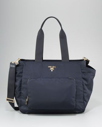 Prada Baby Bag - Out of the so many diaper bags, this was the one that I did not think twice about. I bought it at the Prada store in Scottsdale and love it! Cannot wait to use it!