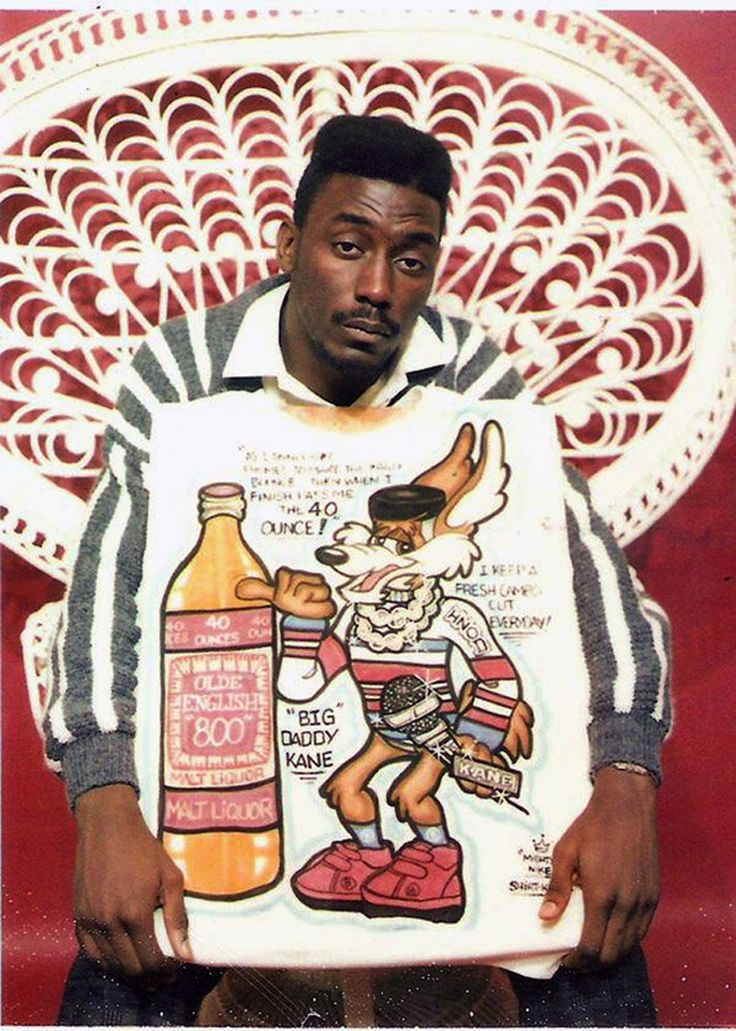 Old School T-shirts! Big Daddy Kane was too cool to where is original Shirt Kings creation. Maybe he just hung it on the wall at his crib.