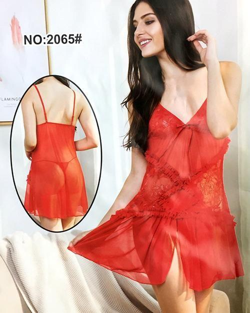 a9321be756 ... Online Shopping Pakistan. Bridal Sexy Cotton Net Short Nighty For Women  - 2065
