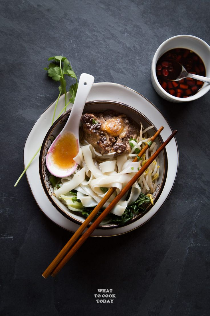 Fall-off-the-bone tender oxtail meat cooked in aromatic spices and served with wide rice noodles (ho fun) will brighten up the gloomiest of winter