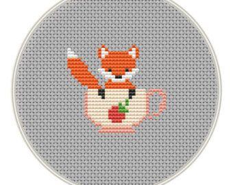 Fox Cross stitch pattern Counted cross stitch von MagicCrossStitch