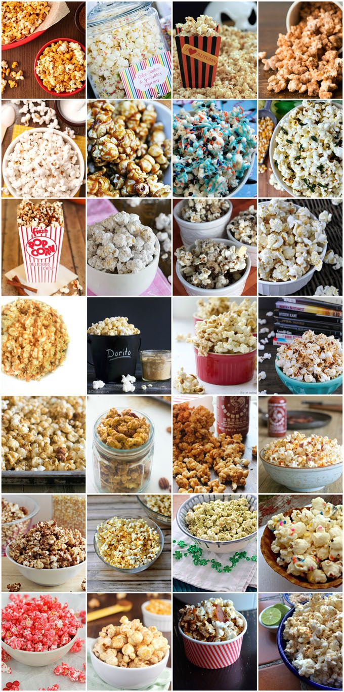 Buttered Popcorn is so boring. Try out one of these 101 Creative Popcorn Toppings on your next movie night.