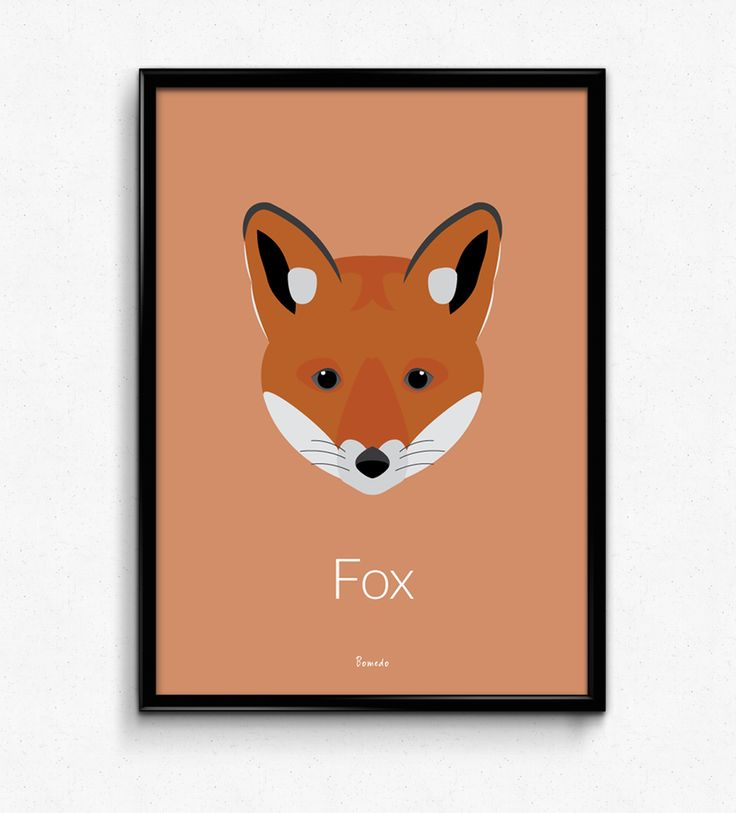 Fox Poster  - Available at www.bomedo.com