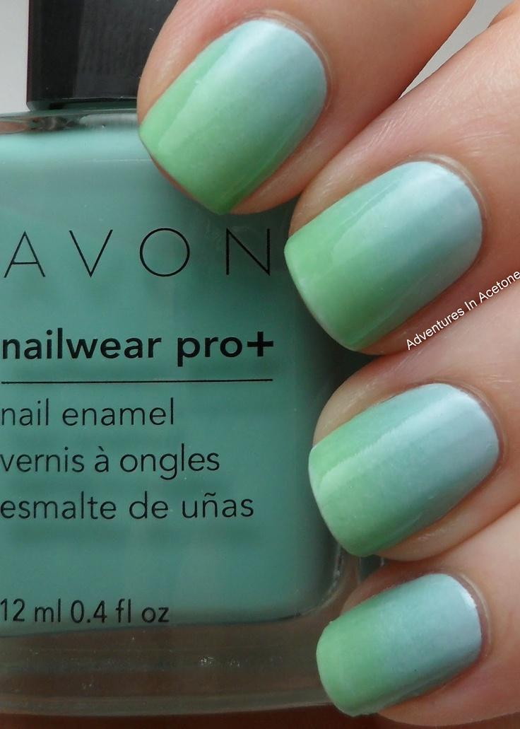 Mejores 66 imágenes de Nails Gradient Nails en Pinterest | Gradiente ...