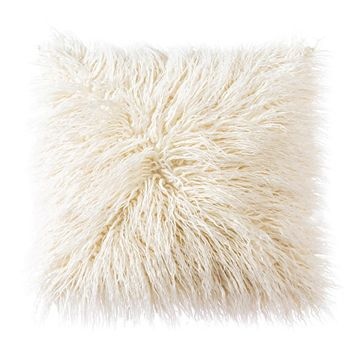 OJIA super soft Mongolian faux fur pillow cover - #affiliate
