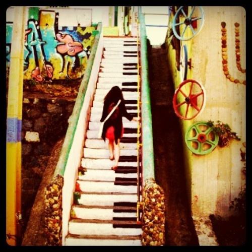 Santiago, Chile Piano Steps