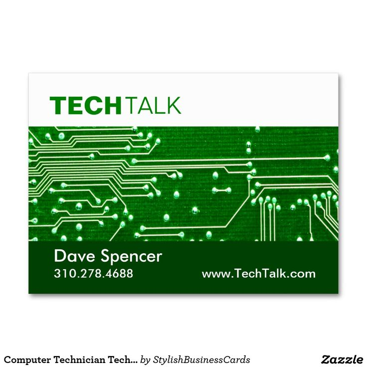 Computer Technician Tech Circuit Board chubby Large Business Cards (Pack Of 100)