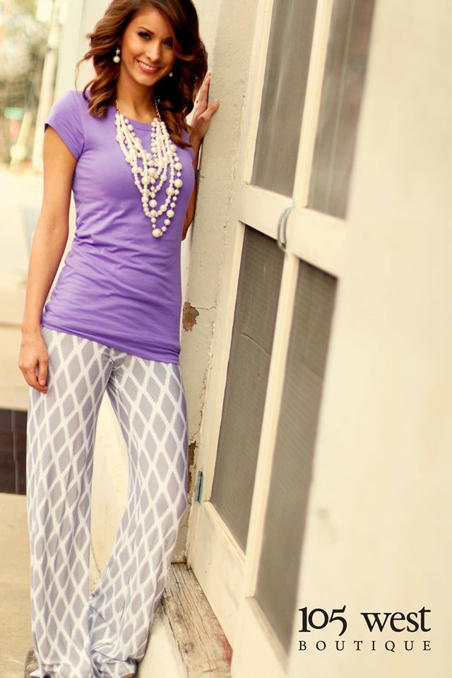 """The """"Bradley"""" Palazzo Pants in Gray ~$39.99 available in XS,S,M at 105 West Boutique located in Abbeville, SC. (864)366-WEST. Shipping $5. Find us on Facebook and Instagram!"""