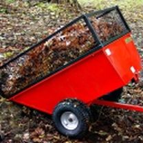 Lawn trailer with extension sides. For more info: http://www.fresh-group.com/trailers-trolleys-and-carts.html
