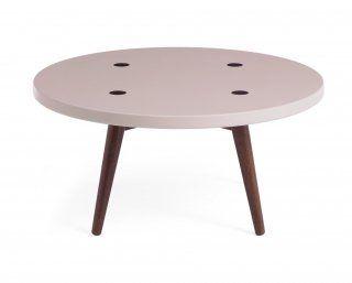 Mesa de Centro Biscoito Fino - 70 cm - Rosa