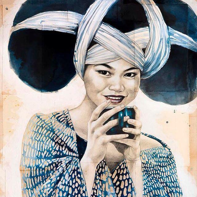 Stephanie Ledoux, dessins sur le thème du thé à L'essence du thé 12 rue notre dame des champs 6eme.