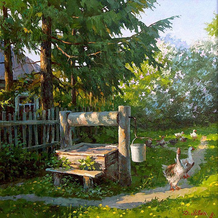 Бесконечная открытка, картинки утро в деревне весна