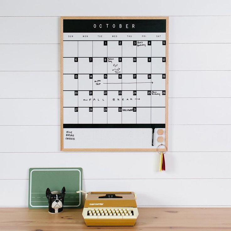 Block Monthly Calendar Whiteboard Calendar Monthly Calendar Custom Calendar