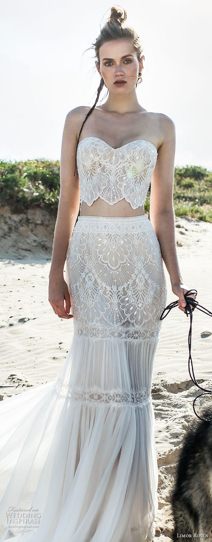 2 piece crop top wedding dress   best bridal images on Pinterest  Bridal gowns Wedding