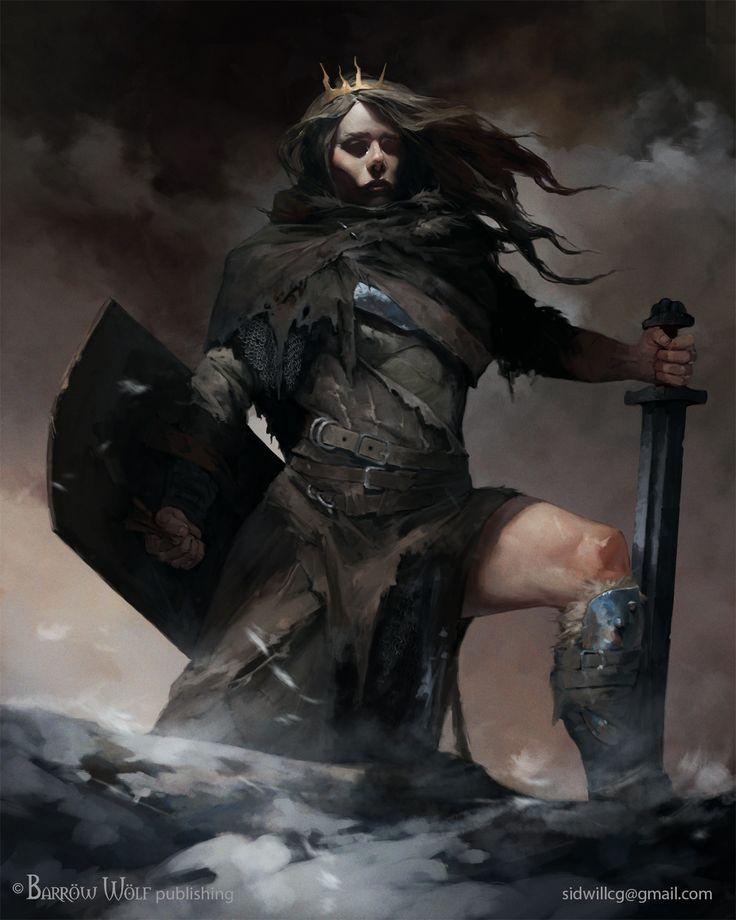 Shield Maiden, Igor Sid on ArtStation at https://www.artstation.com/artwork/9k65N