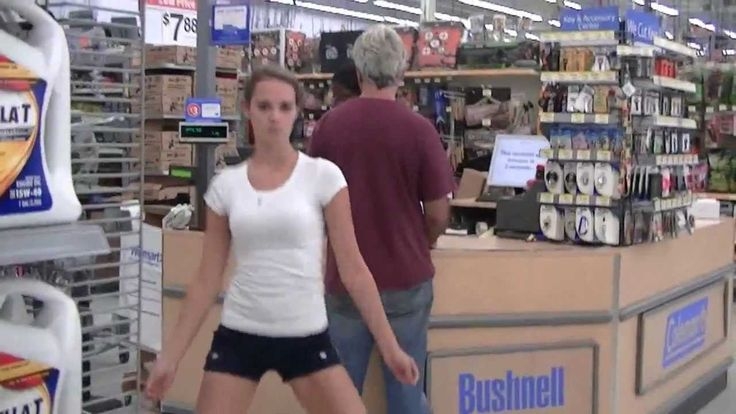 Dancing behind people in Walmart
