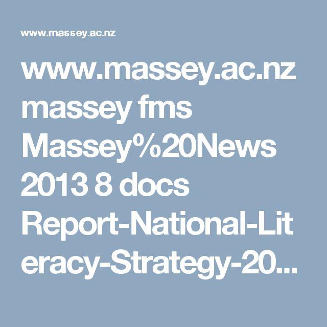 www.massey.ac.nz massey fms Massey%20News 2013 8 docs Report-National-Literacy-Strategy-2013.pdf