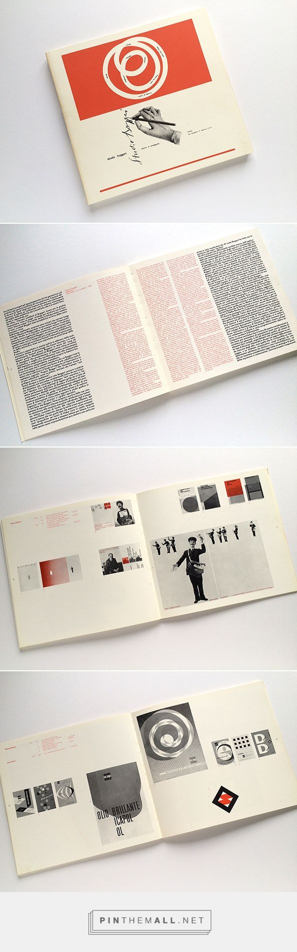 It's Nice That : Typography lovers, listen up! It's Hamish Muir's well-stocked Bookshelf, Bruno Monguzzi: Lo Studio Boggeri: 1933-1981 - created via http://pinthemall.net