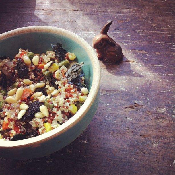 bol de quinoa okinawa super aliments, algues nori, sans gluten