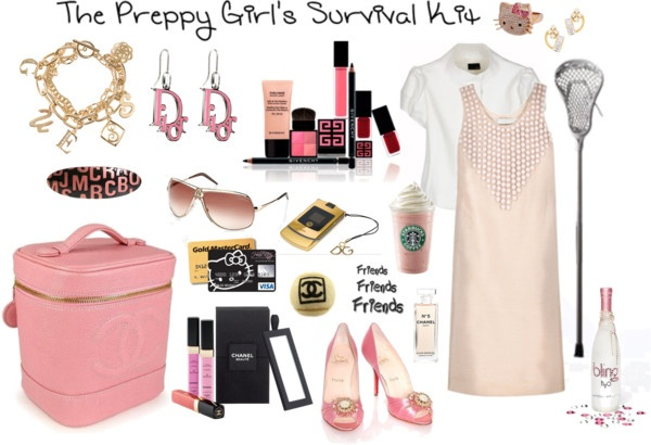 """""""The Preppy Girl's Survival Kit"""" by mademoisellemadison ❤ liked on Polyvore"""