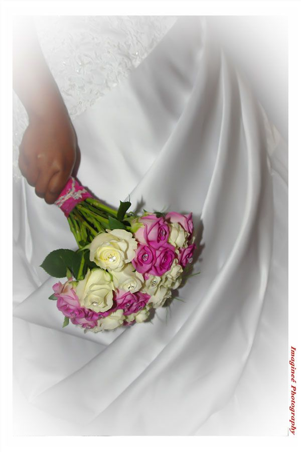 Pink and white bridal bouquet...www.iceevents.co.za