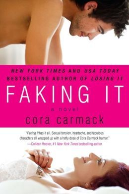 Faking It by Cora Carmack.  What a surprising read!  Funny, sweet and just offbeat enough to NOT be predictable.