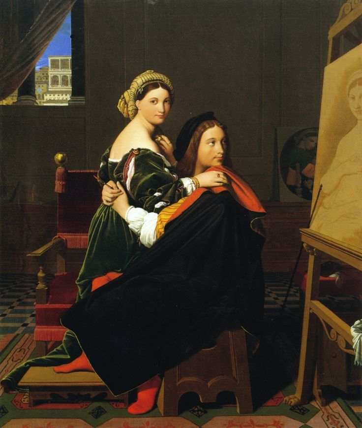 Ingres: Raphael and La Fornarina (1814) | by petrus.agricola