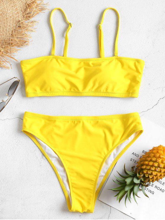 145aa442b9 High Cut Tube Bikini in 2019 | Swimwear | Bikinis, Yellow bikini ...