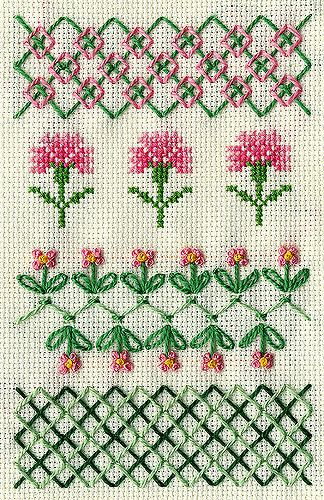 TAST: Boss Stitch & Rice Stitch | 4x6 inch TAST sampler... | Flickr