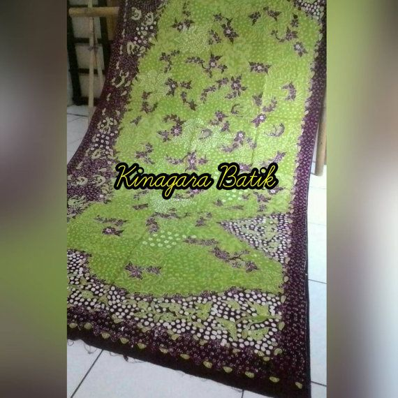Check out this item in my Etsy shop https://www.etsy.com/listing/501331645/hand-written-green-brown-indonesia