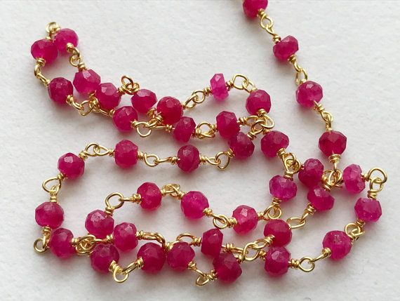 Pink Chalcedony Faceted Rondelle Beads in 925 by gemsforjewels