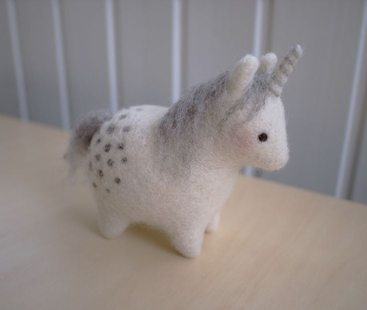 Needle felted Unicorn Yksisarvinen by Uuju.deviantart.com on @deviantART