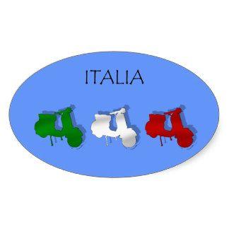 Scooters de drapeau italien de logo de l'Italie de Sticker Ovale