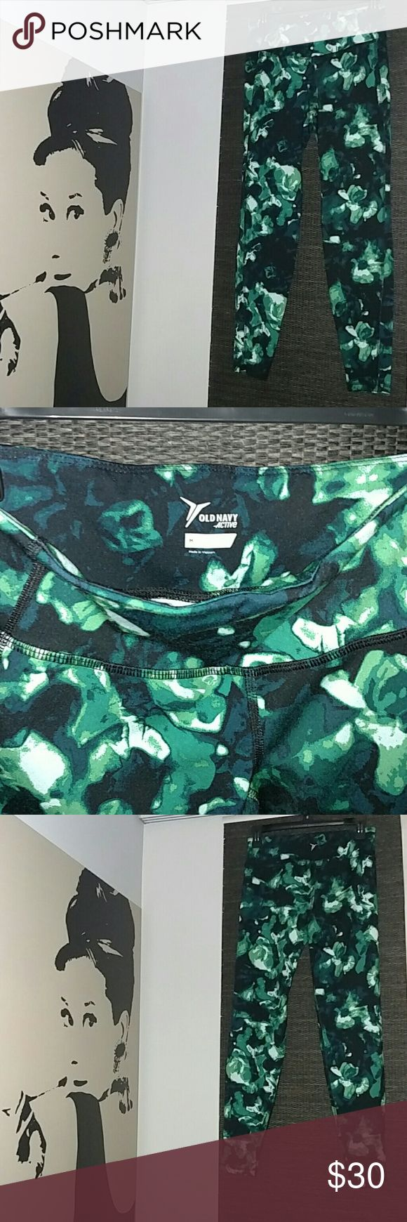 NWOT Camouflage Clash Workout Leggings Gym Pants Brand New Workout Pants These are fabulous!!  Soft, Stretchy Mid Rise Gym Legging Old Navy Pants