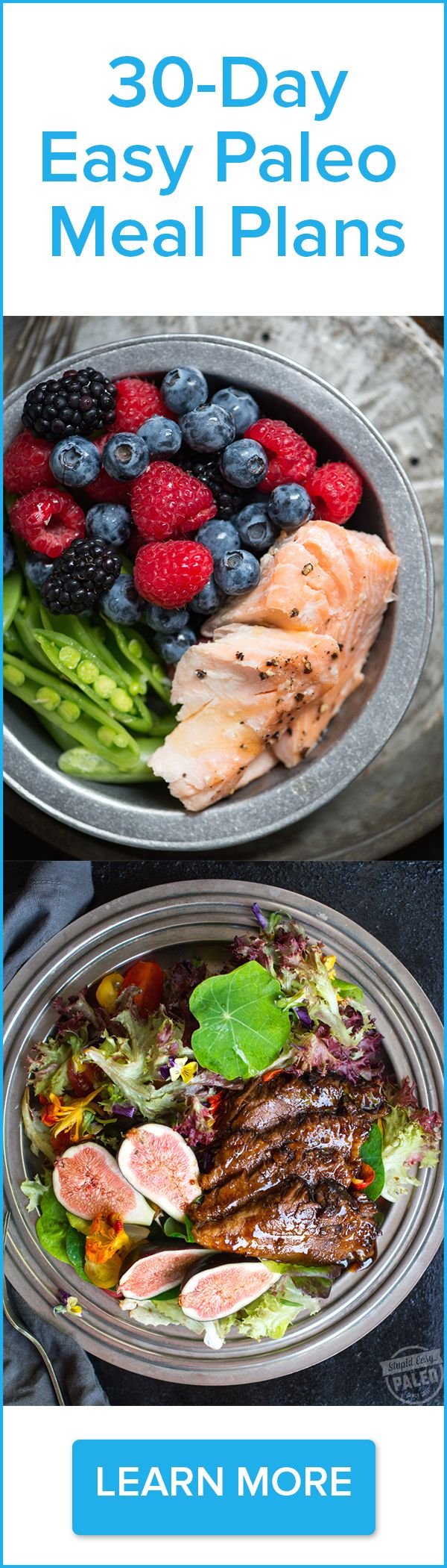 Click here to learn more about 30-Day Easy Paleo Meal Plans from trusted paleo nutritionist Steph Gaudreau of Stupid Easy Paleo http://stupideasypaleo.com/meal-plans. Save up to 10 hours a week in cooking time, and savor delicious paleo food so you can look, feel and perform better.