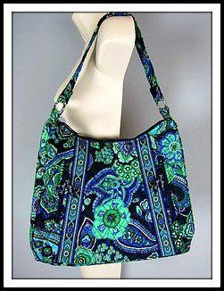 Vera Bradley Lisa B Hobo Blue Rhapsody Guc Starting At 5 On Tophatter July 17 Exclusively Auction 7p Cdt Pinterest