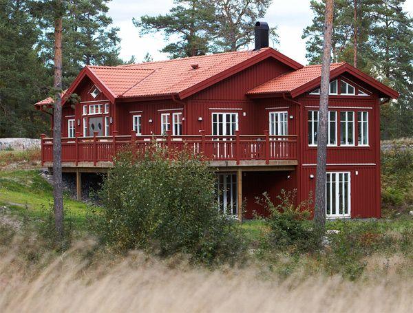 Bildresultat för rött hus med röda knutar