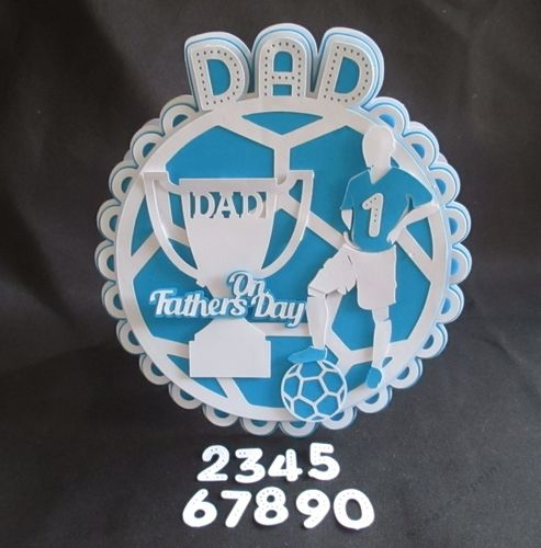 Fathers Day Football Round Card TF0097 ALL formats by Tina Fitch A fun card that can be used for both Fathers Day and Fathers Birthday