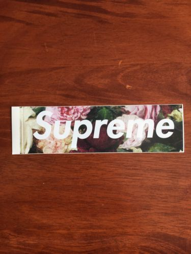 Stickers and Decals 47357: Supreme 2013 S S Power Corruption Lies Pcl Floral Rose Camo Box Logo Sticker -> BUY IT NOW ONLY: $60 on eBay!