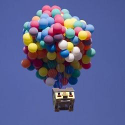 The National Geographic transformed the balloon house from the Disney movie 'Up' into a real life spectacle.