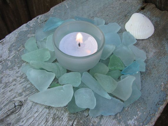 Aqua Sea Glass for Wedding Crafts Blues Sea Foam by buythebeach, $18.99