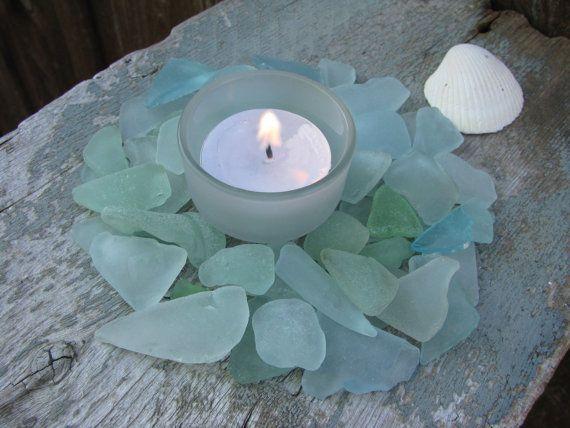 Aqua Sea Glass for Wedding Crafts Blues Sea Foam by buythebeach, $18.99